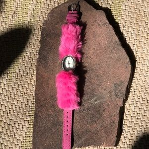NWOT 😊Fun, fluffy, pink watch for child or adult.